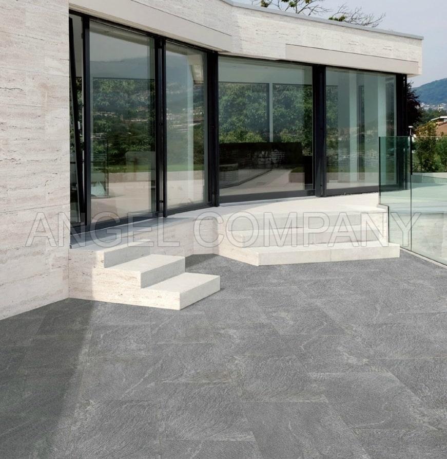 Gresie antiderapanta portelanata Silver Stone Ceramica Opera